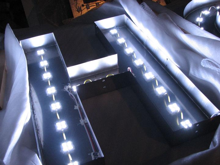 HANABISHI LEDバックライト 施工実績4
