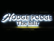 HODGE PODGE LEDバックライト文字 施工実績