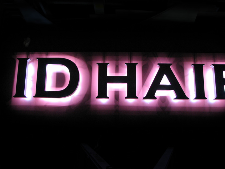 ID HAIR LEDバックライト 施工実績5