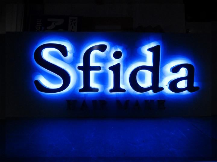 美容室 Sfida 様 LEDバックライト 施工実績2